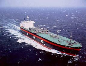 LNG ship at sea