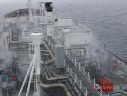 Semi pressurized LPG carrier underway